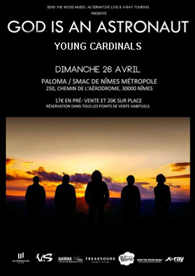 Concert God is an Astronaut + young cardinals
