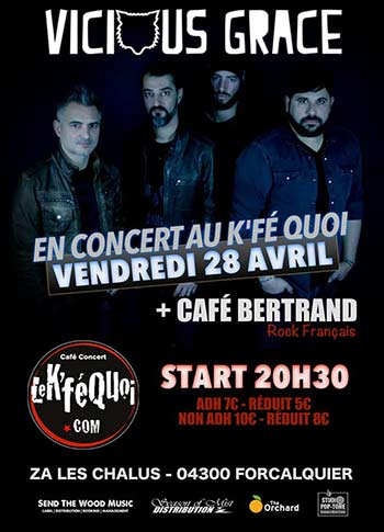 Concert vicious grace 28 avril 2017